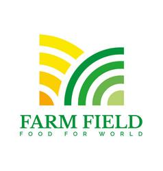 farm agriculture harvest logo template vector image