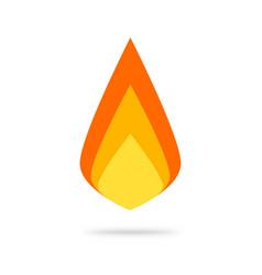 fire flame logo icon flat cartoon ignite vector image