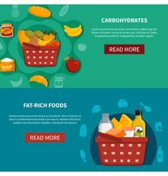 Food Supermarket Horizontal Banners vector image