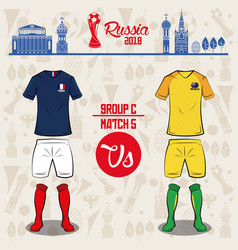 football world russia 2018 match vector image