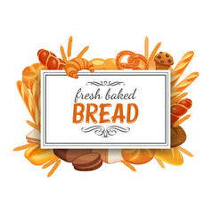 Frame template with bread vector