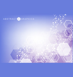 hexagonal abstract background big data vector image
