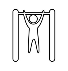 human figure doing exercise vector image