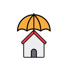 insurance flat icon sign symbol vector image