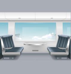 Interior high speed train vector
