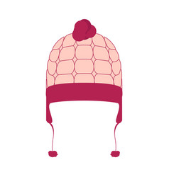 isolated winter hat vector image