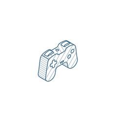 joystick gaming isometric icon 3d line art vector image