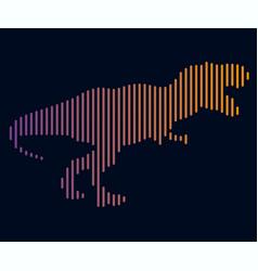 Linear of a dinosaur logo vector