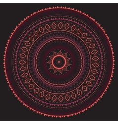 Mandala Indian decorative pattern vector image