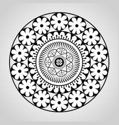 mandala monochrome decoration icon vector image