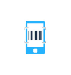 mobile barcode logo icon design vector image