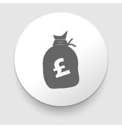 Money bag sign icon Pound GBP vector image