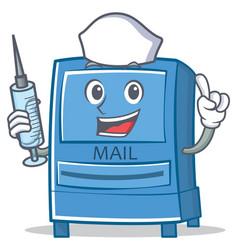 nurse mailbox character cartoon style vector image