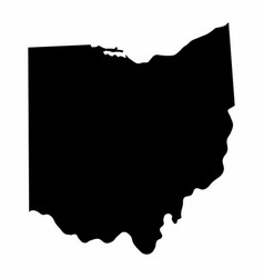 Ohio state silhouette map vector