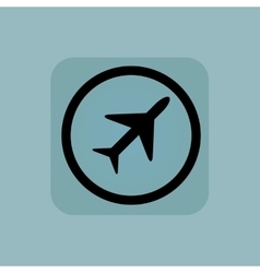 Pale blue plane sign vector image
