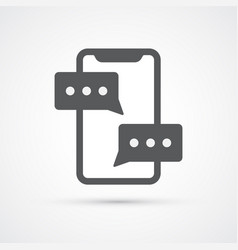 phone text chat trendy icon vector image