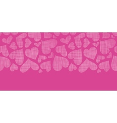 Pink lace hearts textile texture horizontal vector