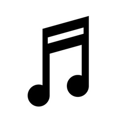 Quaver music note icon image vector