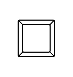 rectangle plate icon vector image