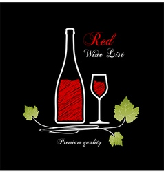 Red wine list vector image