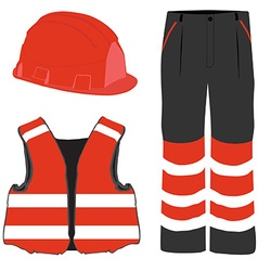 Safety clothing vector image