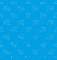 sauna pattern seamless blue vector image