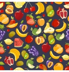 seamless pattern with cute bright summer vector image