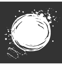Set of ink white blots and splashes vector image