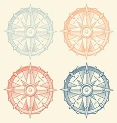 Set vintage graphic compasses vector