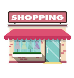 shopping infographic pink shopping store backgroun vector image