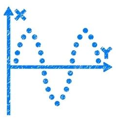 Sinusoid Plot Grainy Texture Icon vector