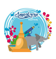 Songkran festival design vector