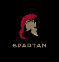 spartan sparta logo spartan helmet logo design vector image