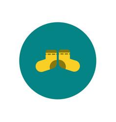 Stylish icon in color circle children socks vector