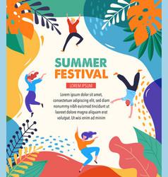 Summer fest concept live music festival jazz vector