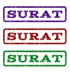 Surat watermark stamp vector