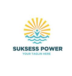 surya power logo designs vector image