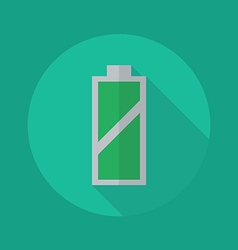 Technology Flat Icon Battery vector image