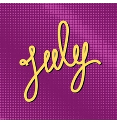 Text july on purple pop art background vector