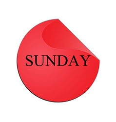 The Sunday colorful stickers vector image vector image