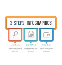 Three steps infographics vector