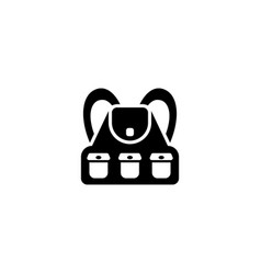 tourist hiking backpack flat icon vector image