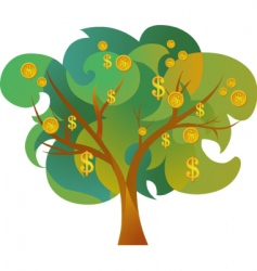 tree with dollar signs vector image