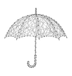 umbrella opened from the rain from abstract vector image