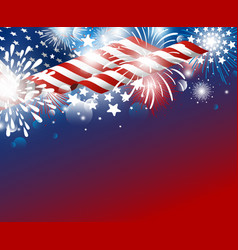 usa independence day 4th july design vector image
