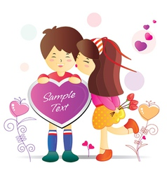 valentines cartoon vector image
