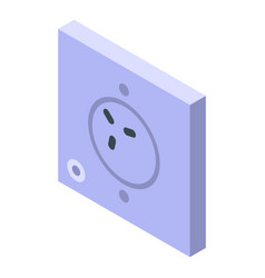 Wall house socket icon isometric style vector
