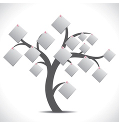 white paper note tree vector image