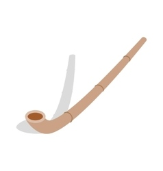 Wooden pipe icon isometric 3d style vector image