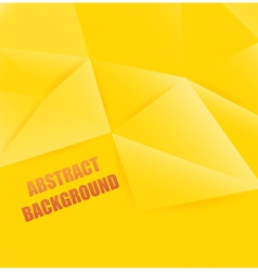 yellow abstract background polygon vector image